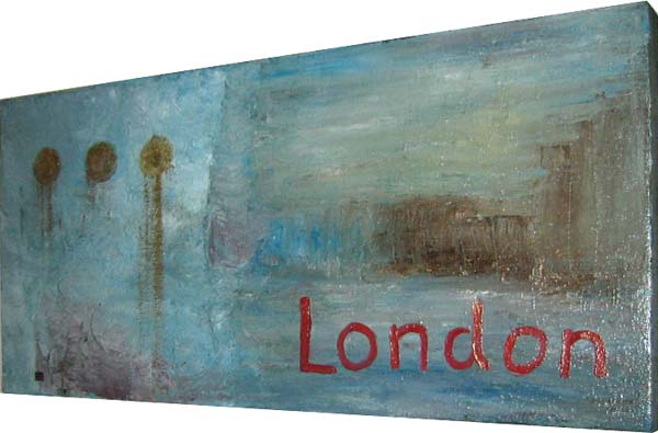 London oil on canvas
