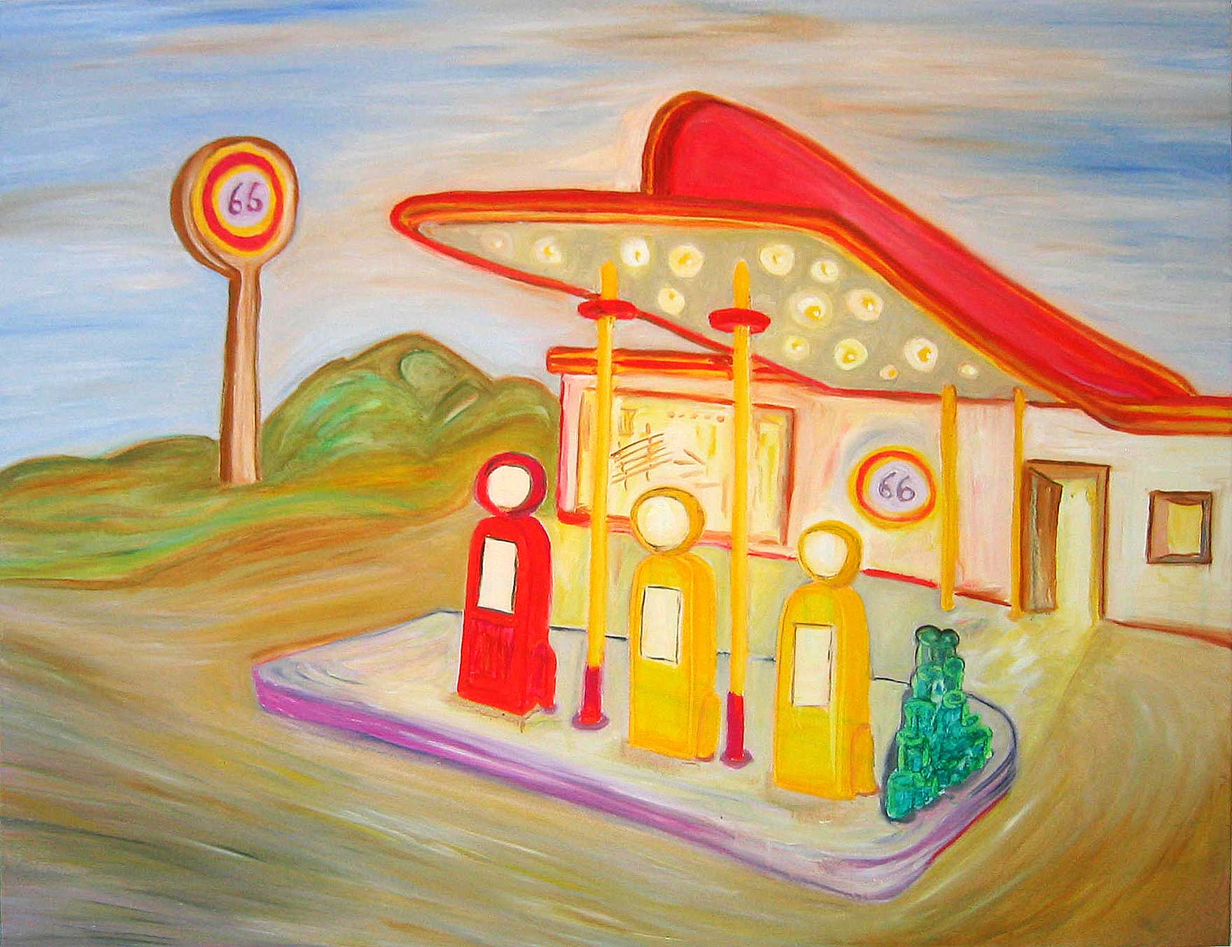 Tankstelle Route 66 Gas station painting