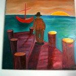 The old man and the sea Painting