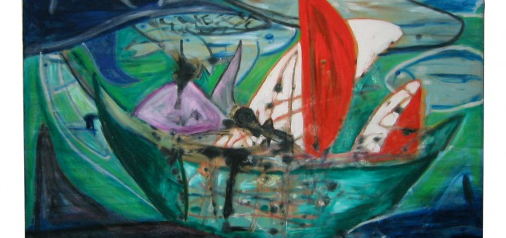 Fisherman Ocean Fishing Painting By Iris Greiner Hamburg